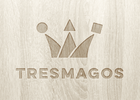 logo design engraved in wood